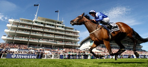 "Taghrooda and Paul Hanagan  winning The Investec Oaks  Epsom 6.6.14 Pic Dan Abraham - racingfotos.com THIS IMAGE IS SOURCED FROM AND MUST BE BYLINED ""RACINGFOTOS.COM"""